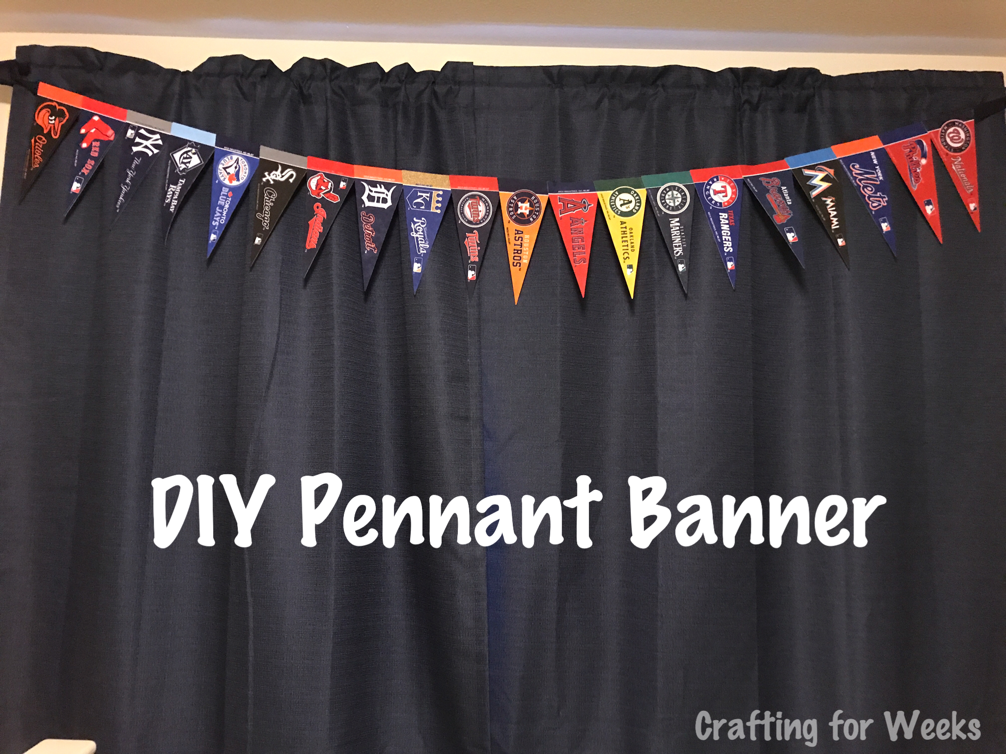 Brilliant Boys Baseball Room Part 2 Diy Pennant Banner Crafting Download Free Architecture Designs Salvmadebymaigaardcom