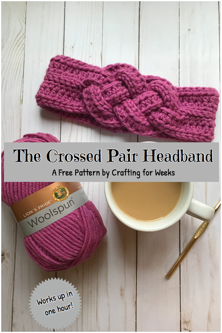 The Crossed Pair Headband A Free Crochet Pattern Crafting For Weeks
